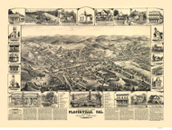 Placerville, California 1888 Bird's Eye View