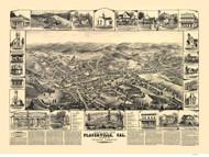 Placerville, California 1888 Bird's Eye View