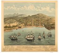 San Francisco, California 1847 (1884) Bird's Eye View