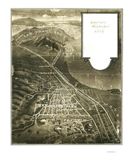 San Mateo Park, California 1905 Bird's Eye View