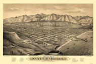 Santa Barbara, California 1877 Bird's Eye View