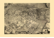 Santa Barbara, California 1896 Bird's Eye View