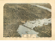 Jacksonville, Florida 1893 Bird's Eye View