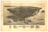 Key West, Florida 1884 Bird's Eye View