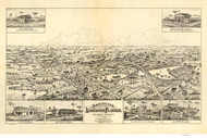 Longwood, Florida 1885 Bird's Eye View