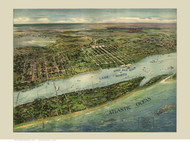 Palm Beach, Florida 1915 Bird's Eye View