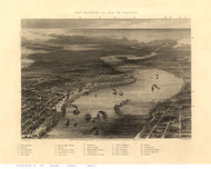 New Orleans, Louisiana 1863 Bird's Eye View