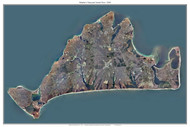 Aerial Photo View of Martha's Vineyard 2005 - Massachusetts Custom Composite Map Reprint