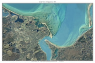 Aerial Photo View of Edgartown 2001 - Massachusetts Custom Composite Map Reprint
