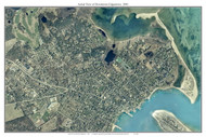 Aerial Photo View of Downtown Edgartown - Horizontal 2001 - Massachusetts Custom Composite Map Reprint