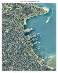 Aerial Photo View of Nantucket Village 2001 - Massachusetts Custom Composite Map Reprint