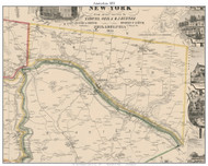 Amsterdam, New York 1853 Old Town Map Custom Print - Montgomery Co.