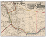 Palatine, New York 1853 Old Town Map Custom Print - Montgomery Co.