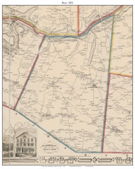 Root, New York 1853 Old Town Map Custom Print - Montgomery Co.
