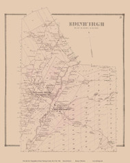 Edinburgh, New York 1866 - Old Town Map Reprint - Saratoga Co.