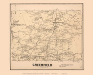 Greenfield, New York 1866 - Old Town Map Reprint - Saratoga Co.