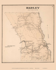 Hadley, New York 1866 - Old Town Map Reprint - Saratoga Co.