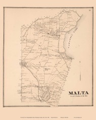 Malta, New York 1866 - Old Town Map Reprint - Saratoga Co.