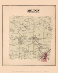Milton, New York 1866 - Old Town Map Reprint - Saratoga Co.
