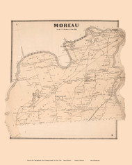 Moreau, New York 1866 - Old Town Map Reprint - Saratoga Co.
