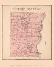 Northumberland, New York 1866 - Old Town Map Reprint - Saratoga Co.