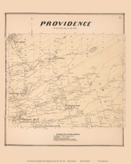 Providence, New York 1866 - Old Town Map Reprint - Saratoga Co.