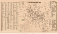 Saratoga Springs Village and Business Directory - Saratoga Springs, New York 1866 - Old Town Map Reprint - Saratoga Co.