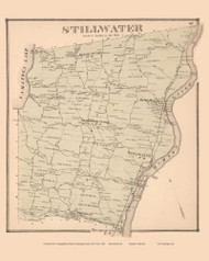 Stillwater, New York 1866 - Old Town Map Reprint - Saratoga Co.