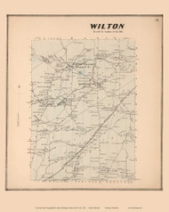 Wilton, New York 1866 - Old Town Map Reprint - Saratoga Co.