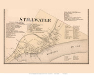 Stillwater Village Only (Custom) - Stillwater, New York 1866 - Old Town Map Reprint - Saratoga Co.
