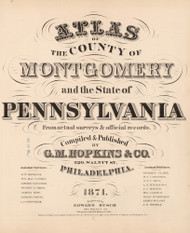 Title Page, Atlas of the County of Montgomery and the State of Pennsylvania, Pennsylvania 1871 - Old Map Reprint Not for Sale - Montgomery County