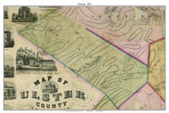 Denning, New York 1853 Old Town Map Custom Print - Ulster Co.