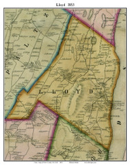 Lloyd, New York 1853 Old Town Map Custom Print - Ulster Co.