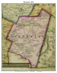 Plattekill, New York 1853 Old Town Map Custom Print - Ulster Co.