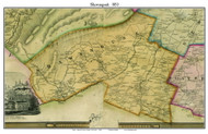 Shawangunk, New York 1853 Old Town Map Custom Print - Ulster Co.