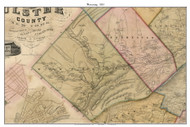 Wawarsing, New York 1853 Old Town Map Custom Print - Ulster Co.