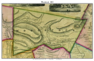 Woodstock, New York 1853 Old Town Map Custom Print - Ulster Co.