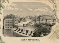 View of Arnoldtown, New York 1853 Old Town Map Custom Print - Ulster Co.