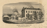 The Eagle Hotel, New York 1853 Old Town Map Custom Print - Ulster Co.