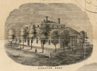 Kingston Bank, New York 1853 Old Town Map Custom Print - Ulster Co.