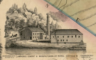 Lawrence Cement & Manufacturing Cos. Works, New York 1853 Old Town Map Custom Print - Ulster Co.
