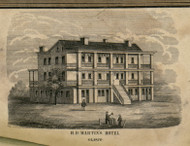H.D. Martin's Hotel, New York 1853 Old Town Map Custom Print - Ulster Co.