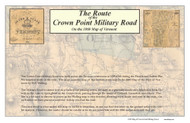 Crown Point Military Road - 8 sheet set - 1860 - Vermont- Old Map Reprint VT Specials