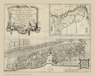 St Augustine 1764  - Old Map Reprint - Florida Cities