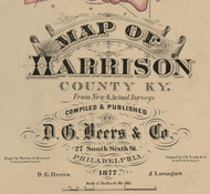 Title of Source Map - Harrison Co., Kentucky 1877 - NOT FOR SALE - Harrison Co.