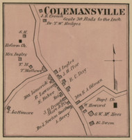 Colemansville - Precinct 4 - Harrison County, Kentucky 1877 Old Town Map Custom Print - Harrison Co.