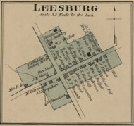 Leesburg - Precinct 7 - Harrison County, Kentucky 1877 Old Town Map Custom Print - Harrison Co.