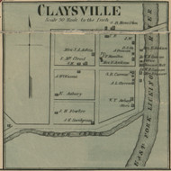 Claysville - Precinct 8 - Harrison County, Kentucky 1877 Old Town Map Custom Print - Harrison Co.