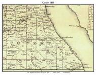 Covert, New York 1850 Custom Old Town Map with Homeowner Names  - Reprint - Genealogy - Seneca Co.