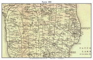 Fayette, New York 1850 Custom Old Town Map with Homeowner Names  - Reprint - Genealogy - Seneca Co.